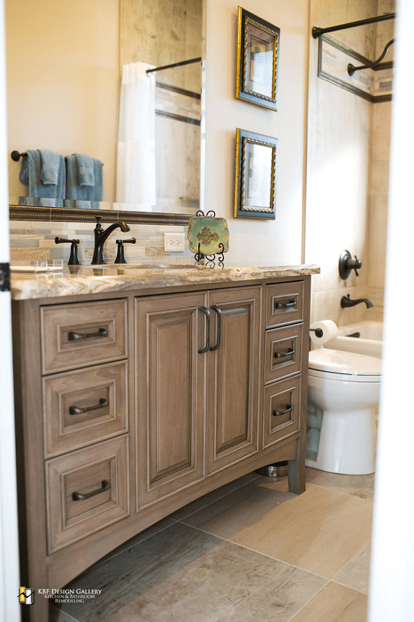 Traditional Home Remodel  Guest Baths  KBF Design Gallery