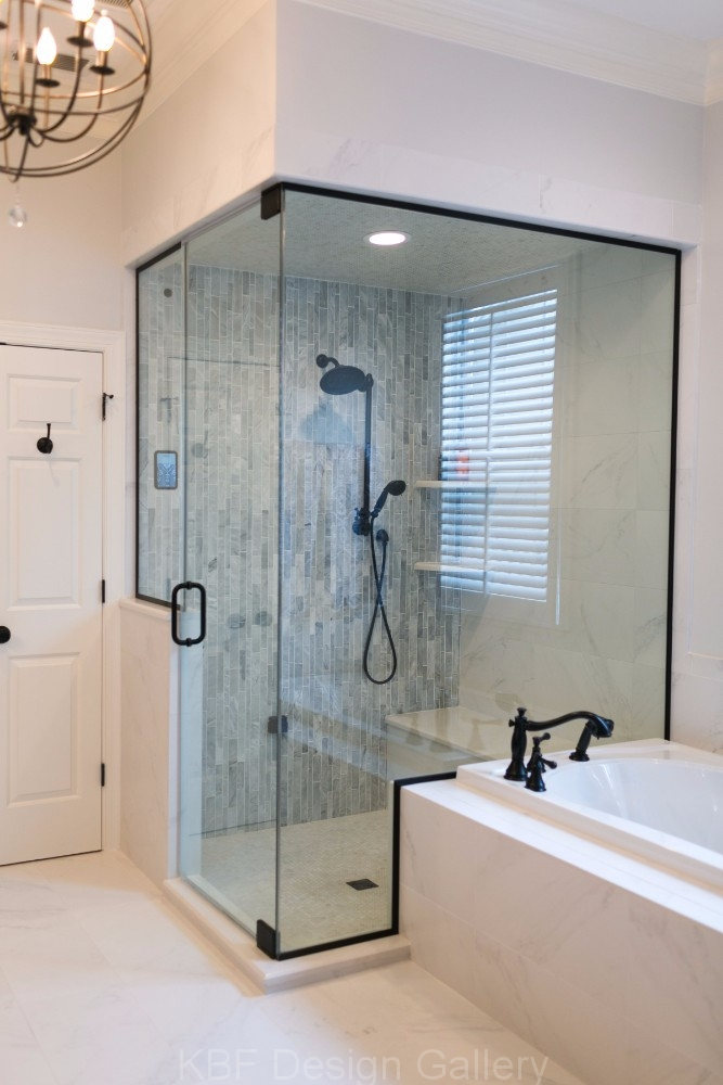 Master Bathroom with Steam Shower  KBF Design Gallery