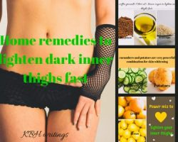 HOME REMEDIES TO LIGHTEN DARK INNER THIGHS FAST