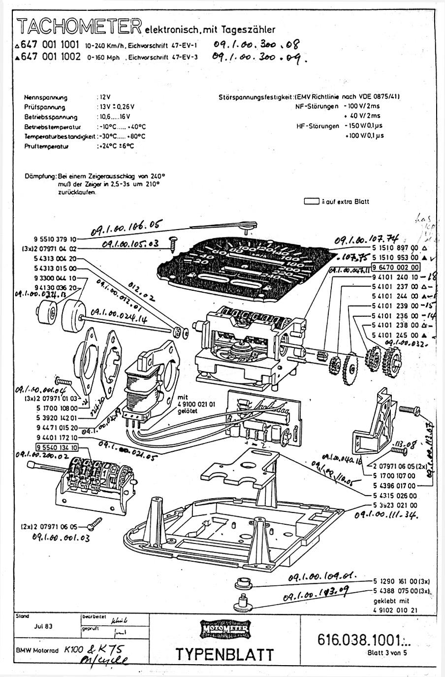 K Bike Instrument Cluster