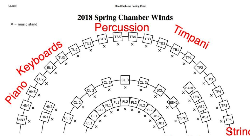 Spring seating chart picture also cw rehearsals dr kenneth  bodiford kbodiford gmail rh