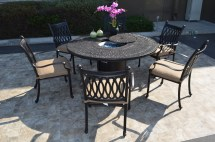 Grand Tuscany 7 Piece Dining Set 6 Chairs 1