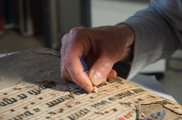 estaurateur gomt op handschrift