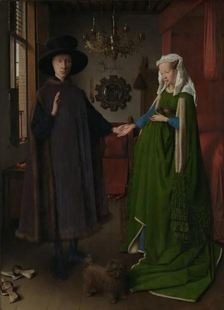Jan van Eyck, Het echtpaar Arnolfini, 1434 © National Gallery, Londen