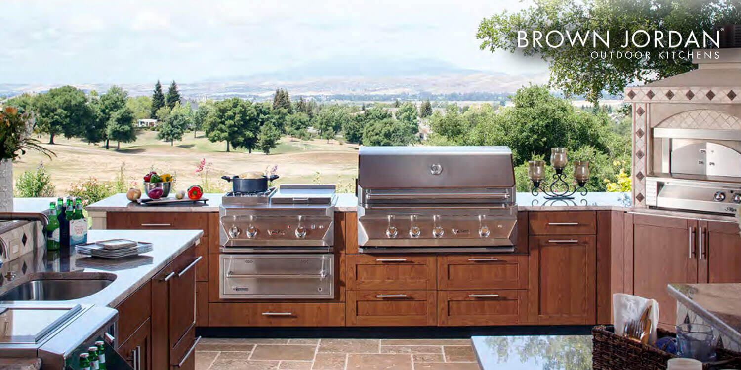 brown jordan outdoor kitchens white kitchen faucets kbs - and bath source – large designer showroom ...