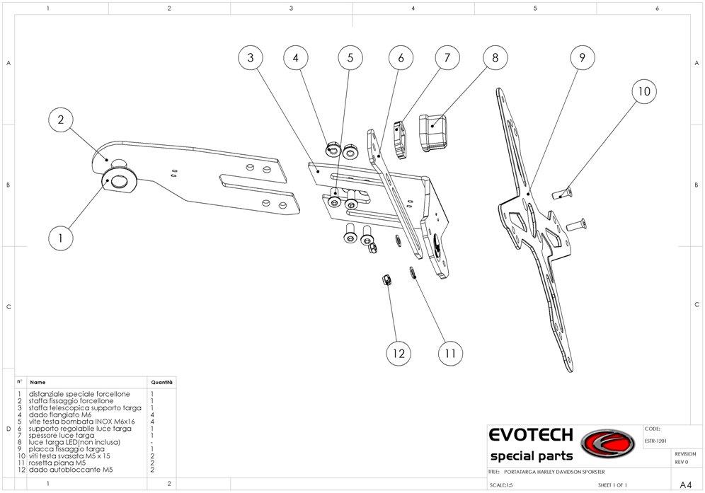 Evotech Kennzeichenhalter Harley Sportster XR1200