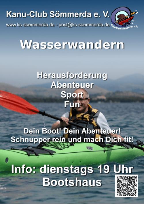 Plakat-Wasserwandern
