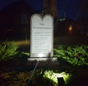 10 Commandments lights