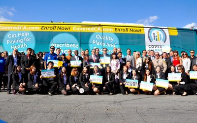 Covered California Bus Tour Makes a Stop at KCAL in Hacienda Heights!