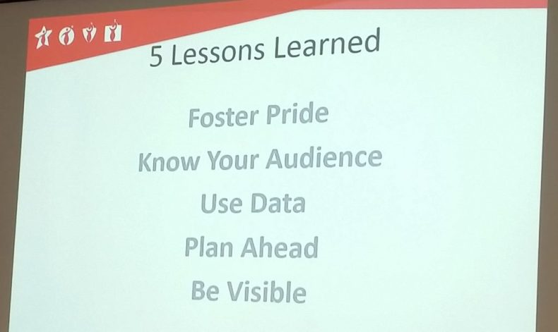 5 Lessons Learned: Foster Pride, Know Your Audience, Use Data, Plan Ahead, Be Visible