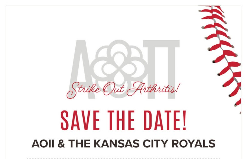 save the date strike out arthritis is sept 16 greater kansas city