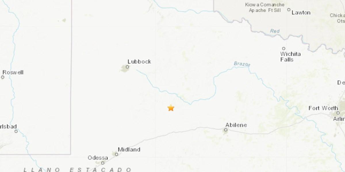 3.1 magnitude earthquake strikes near Snyder, TX