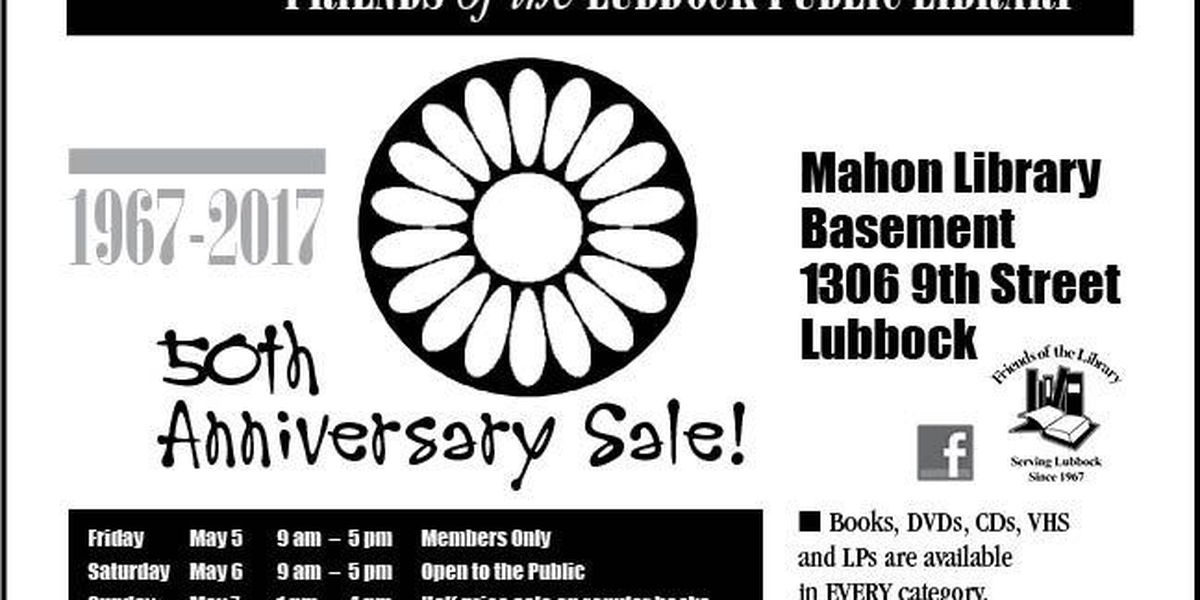 Friends of the Library holding 50th Anniversary Book Sale