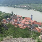 View of Dürnstein and Danube River Valley from Dürnstein Castle Ruins