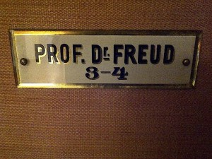 Sign to Sigmund Freud's Office and Apartment