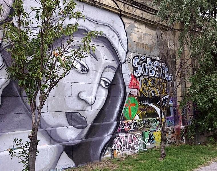 Mary, graffiti, Vienna, Donaukanal, Austria, 2014