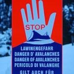 Avalanche Danger Sign