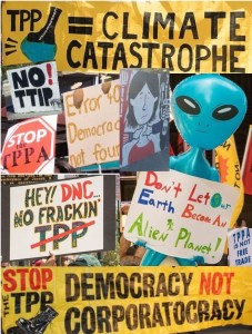 Collage from Anti-TTIP and TPP protests