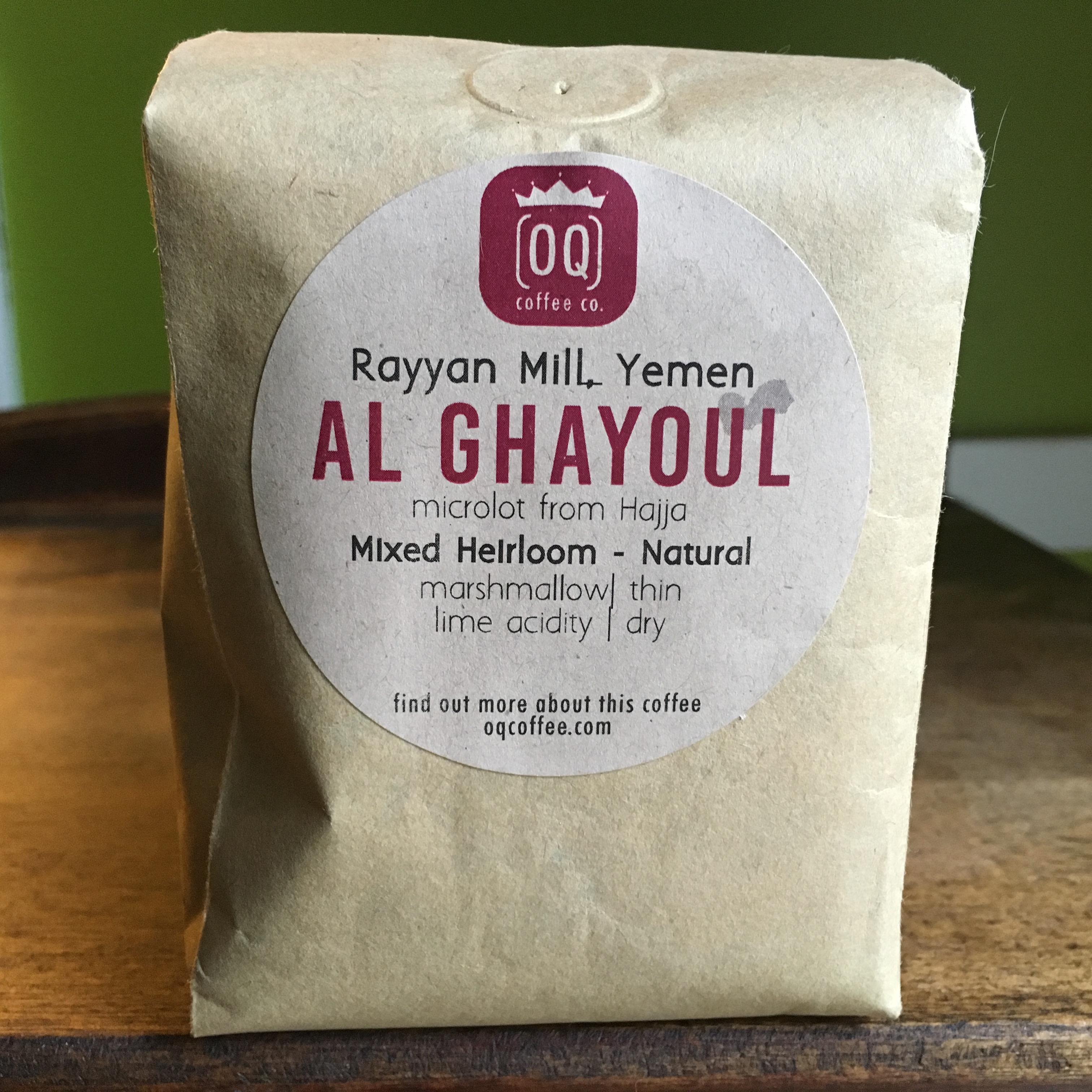 OQ Coffee Yemen Al Ghayoul Microlot