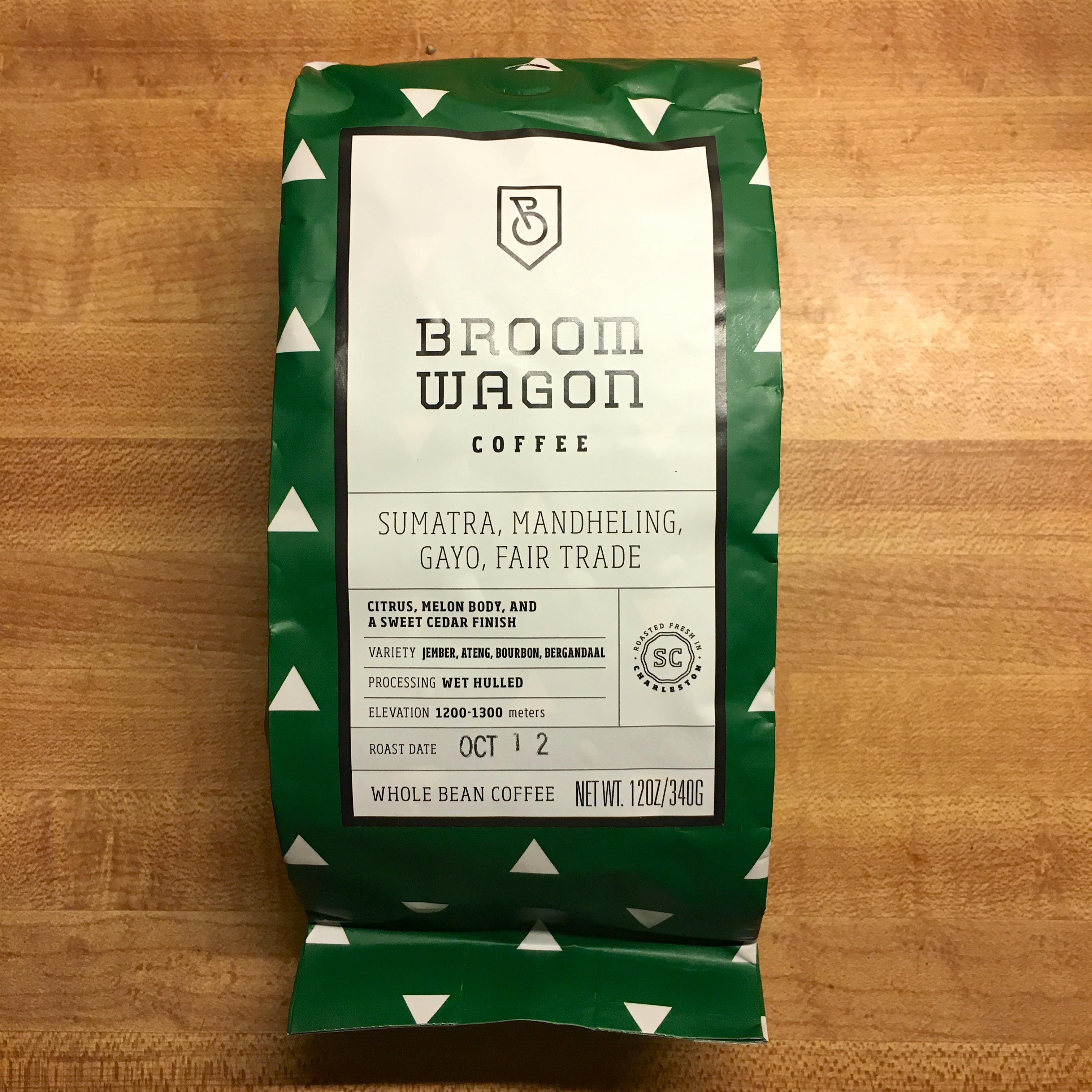 Broom Wagon Coffee Sumatra Mandheling Gayo Fair Trade