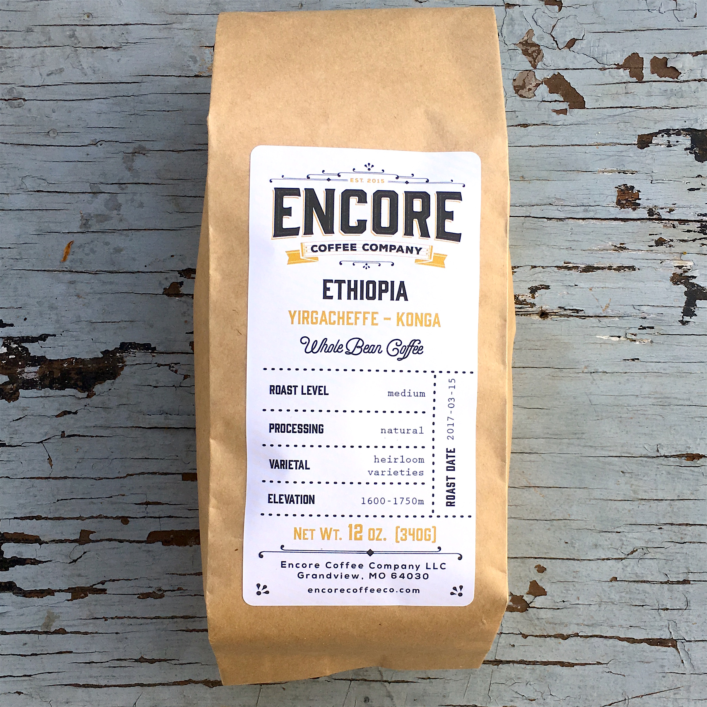 Encore Coffee Co. Tour Pass and Natural Yirgacheffe Konga