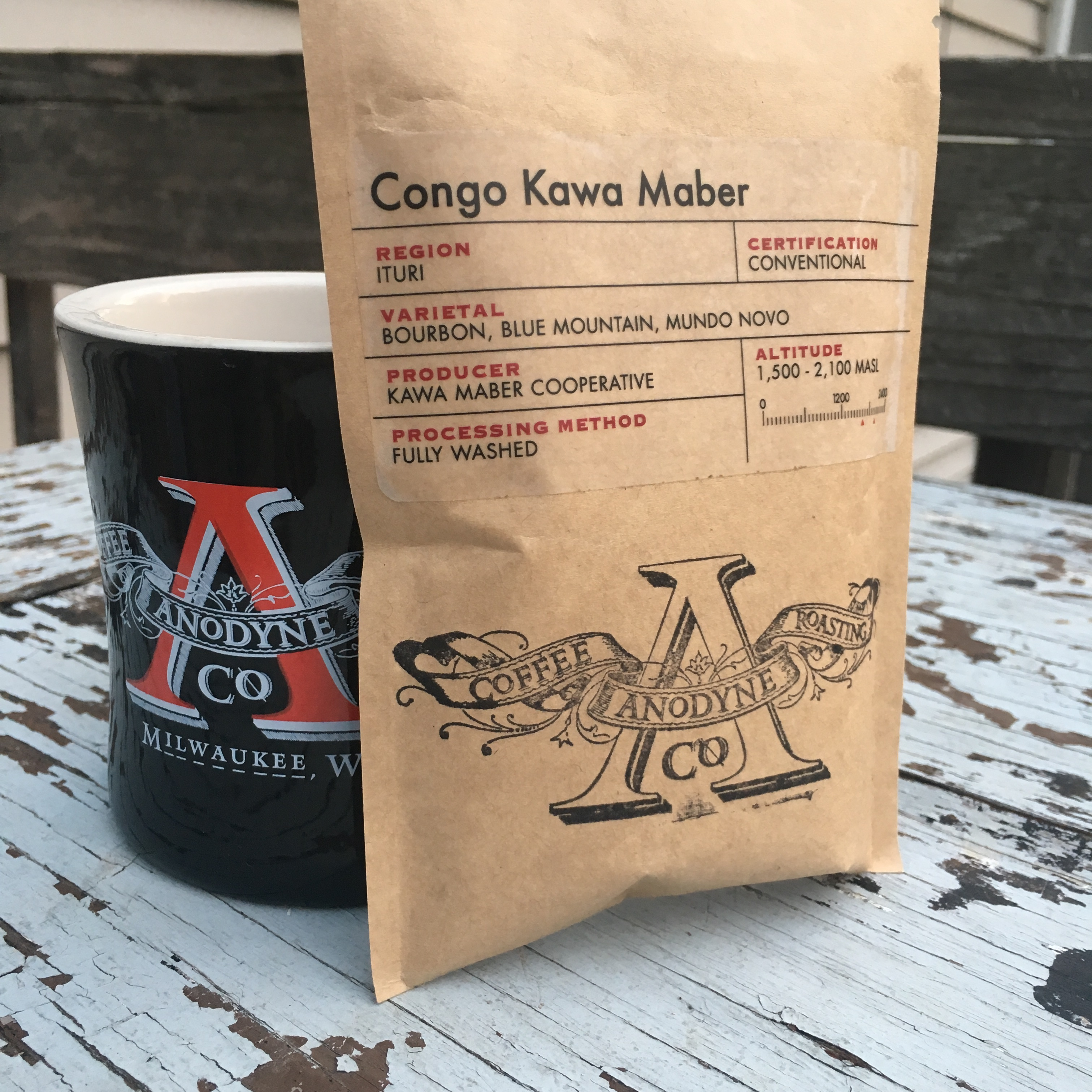 Anodyne Coffee Roasting Co. Congo Kawa Maber