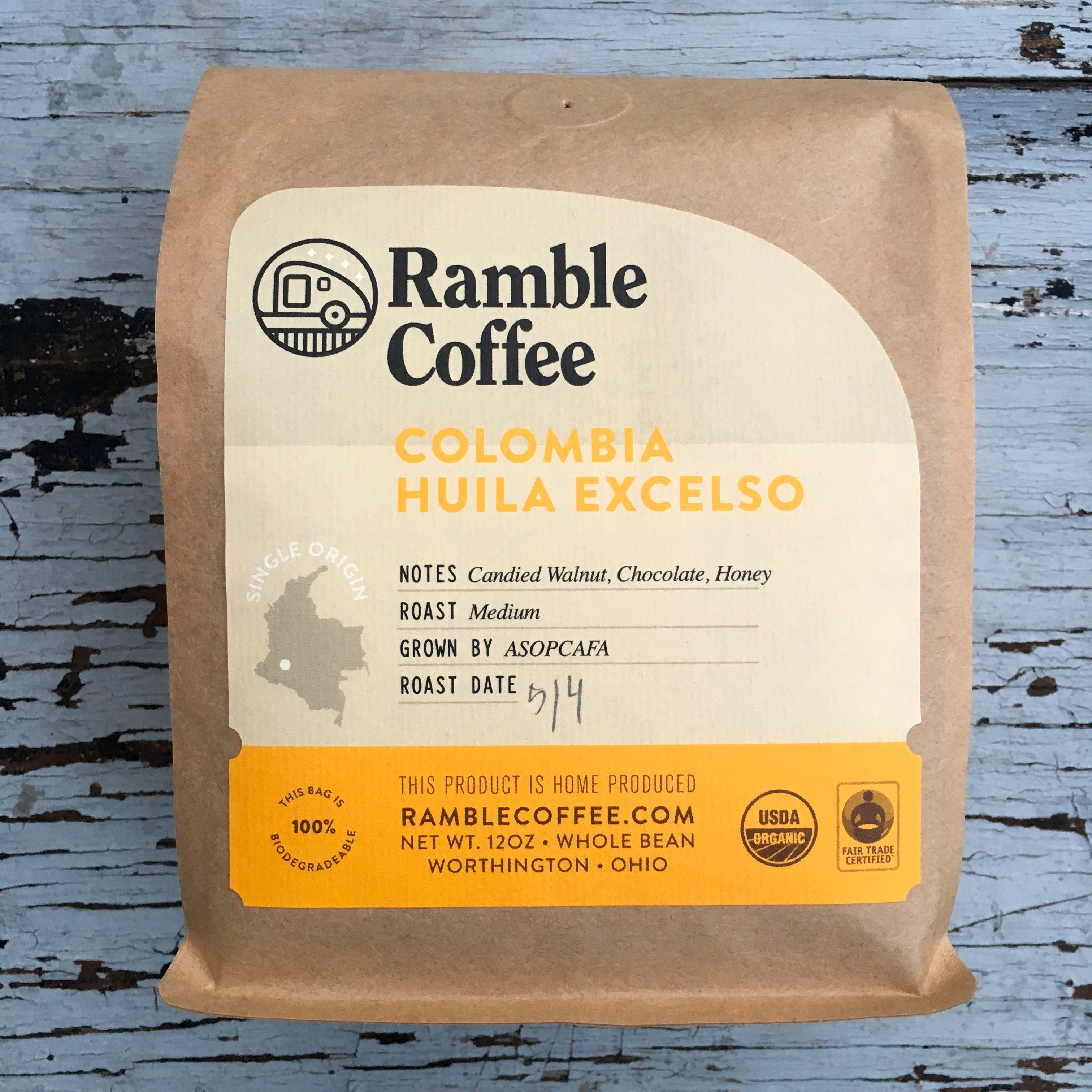 Ramble Coffee Colombia Huila Excelso