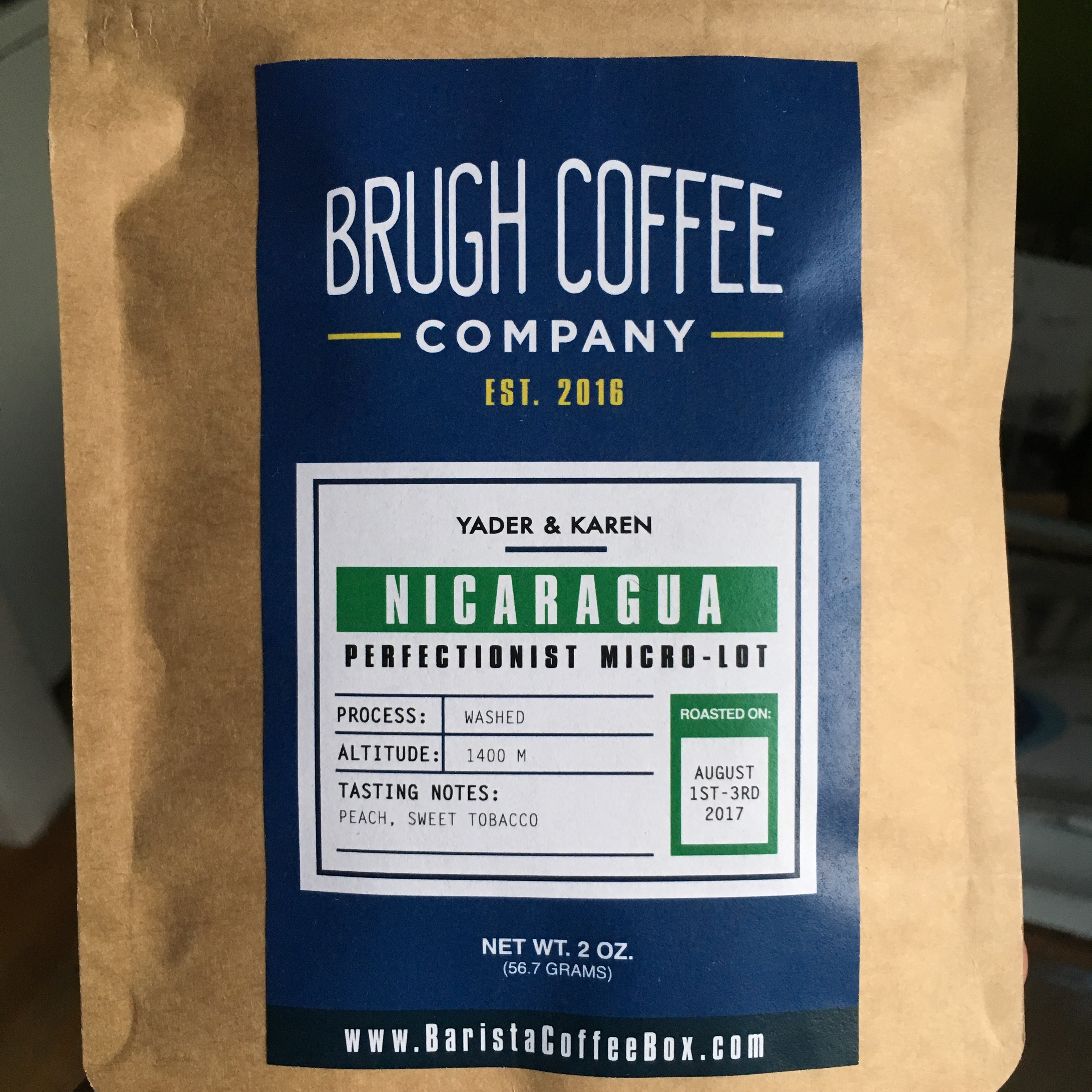 Brugh Coffee Co. Nicaragua Yader & Karen Perfectionist Micro-Lot