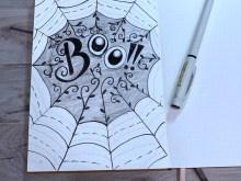 boo - spider web.