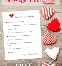 FREE Printable Valentines Day Scavenger Hunt - Edventures with Kids [ 1200 x 800 Pixel ]