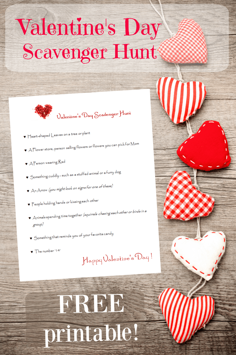 hight resolution of FREE Printable Valentines Day Scavenger Hunt - Edventures with Kids