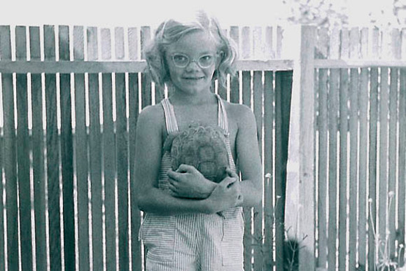 A young Dr. Berry with a captive pet desert tortoise. | Photo: Ivar Highberg, Berry's father.
