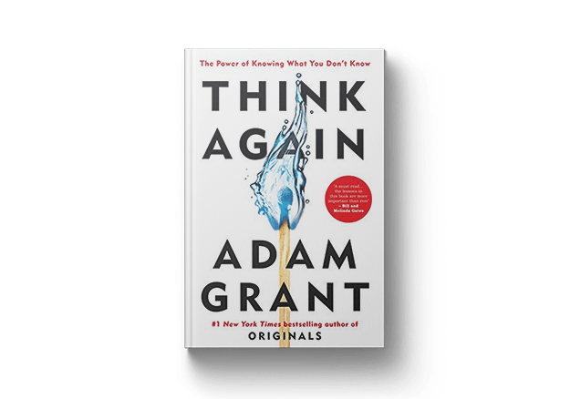 Cover of Think Again by Adam Grant