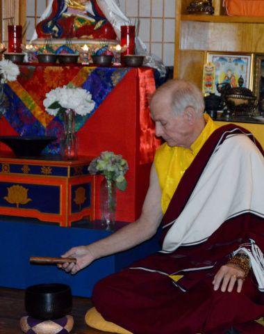 Lama Chuck leading the World Peace Meditation