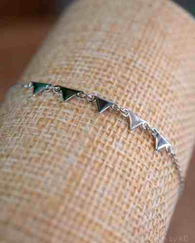Zilveren Armband 'Pyramid' Sterling Zilver