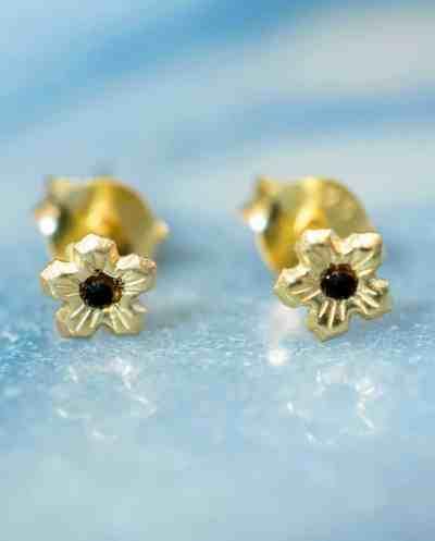 Gouden oorbellen 'Flower' van Goud Vermeil