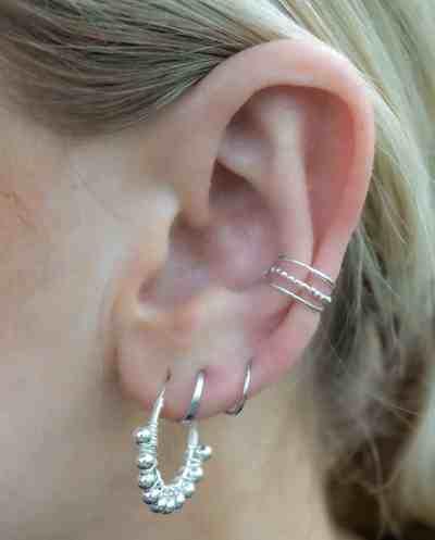 Sterling Zilveren oorbellen 'Barcelona Hoops'