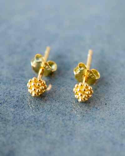 Gouden oorbellen 'Cone' van Goud op Zilver