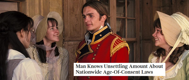 Austen + Onion Headlines: Pride and Prejudice 2005, part 1