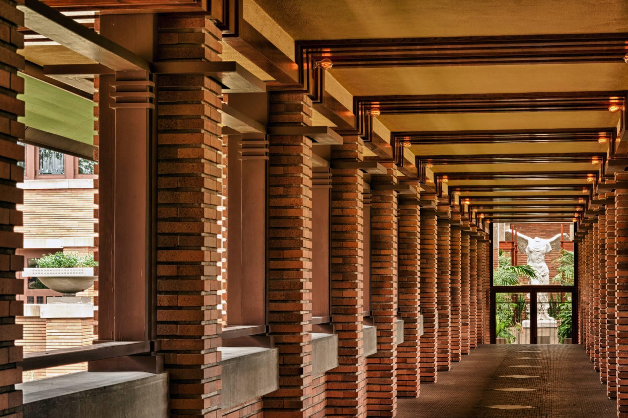 architectural photography darwin martin house pergola frank lloyd wright design  in plain sight
