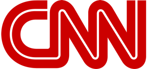Logo for the CNN television news network.