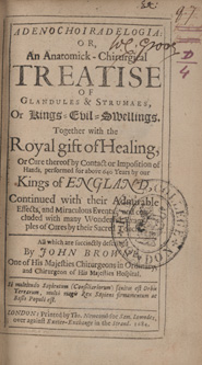 Scrofula and the royal touch: Hope and Fear at KCL