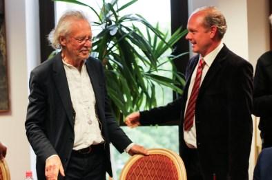 Bojan Panaotović, direktor Kulturnog centra Novog Sada i Peter Handke