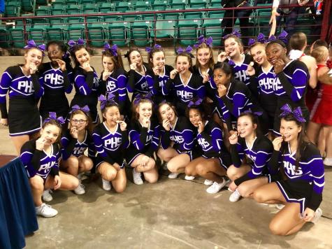 Cheer team takes fourth at first KSHSAA cheer competition