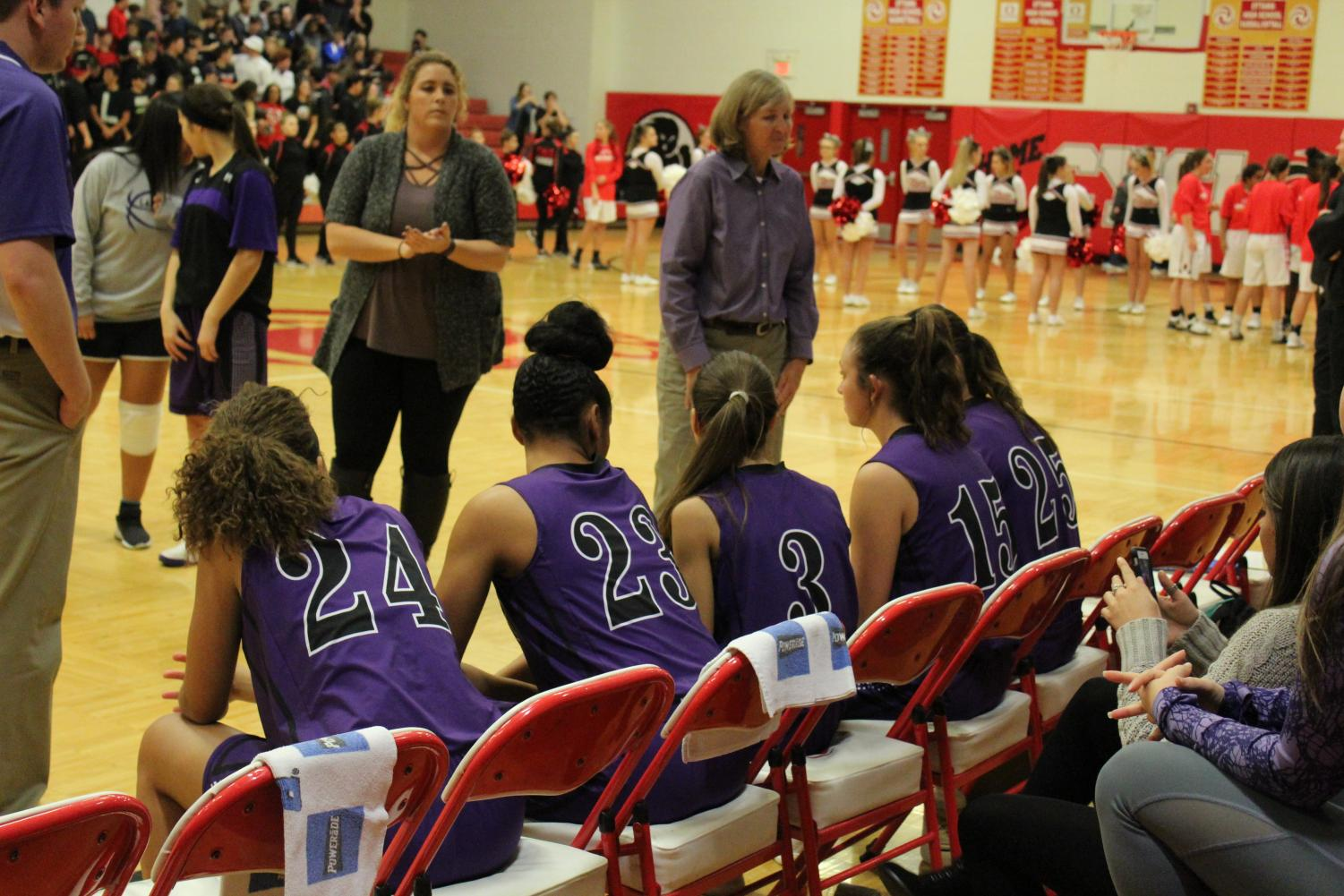 The Lady Pirates'  wait to be announced prior to the Ottawa Game.