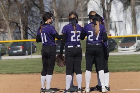 JV softball sweeps Ottawa in a double header on April 17
