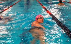Girls swim works towards state