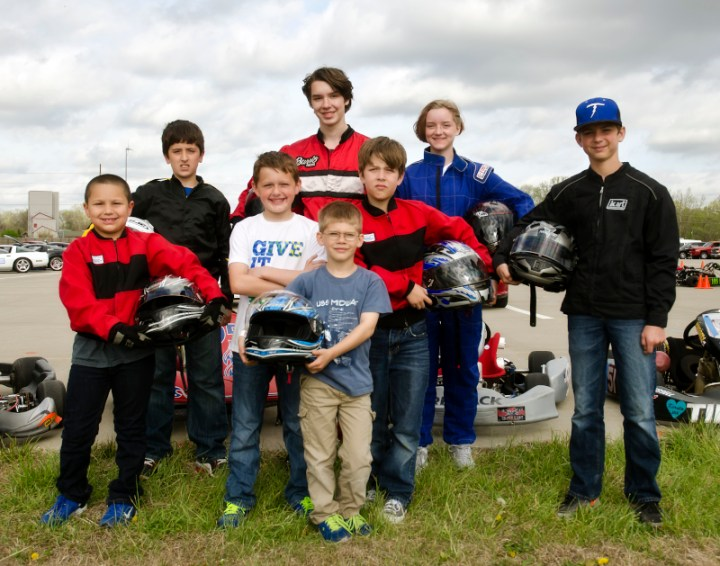 The Jr. Kart group keeps on growing, these kids are fast!