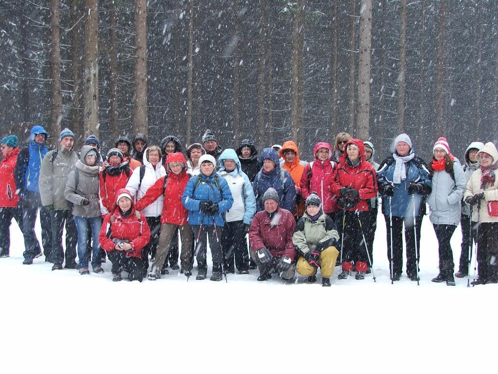 Na lednové výpravě ze Sovince přes Dalov jsme zažili pravou zimu