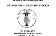 Putování přírodním parkem Sovinecko 21.5.2016